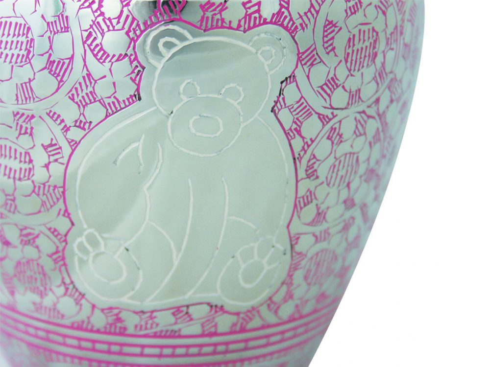 Urne enfant Little bear pink
