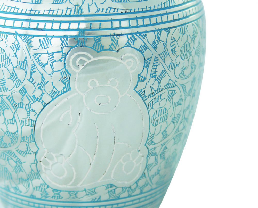 Urne enfant Little bear blue